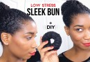 Sleek Bun w/Minimum Stress + DIY Satin Lined Hair Donut