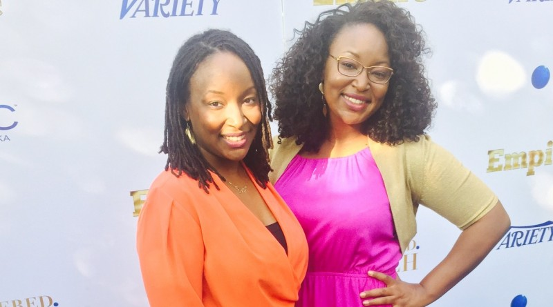Twin staff writers JaSheika (left) & JaNeika James (right) on Fox show, Empire
